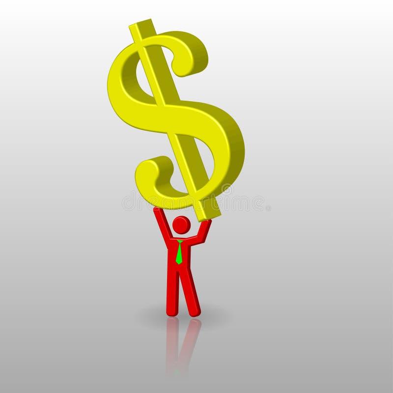 Lift up dollar royalty free illustration