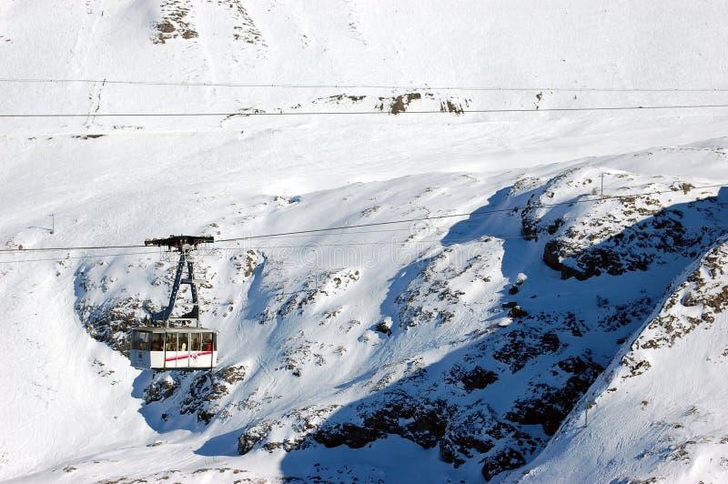 lift1滑雪 库存图片