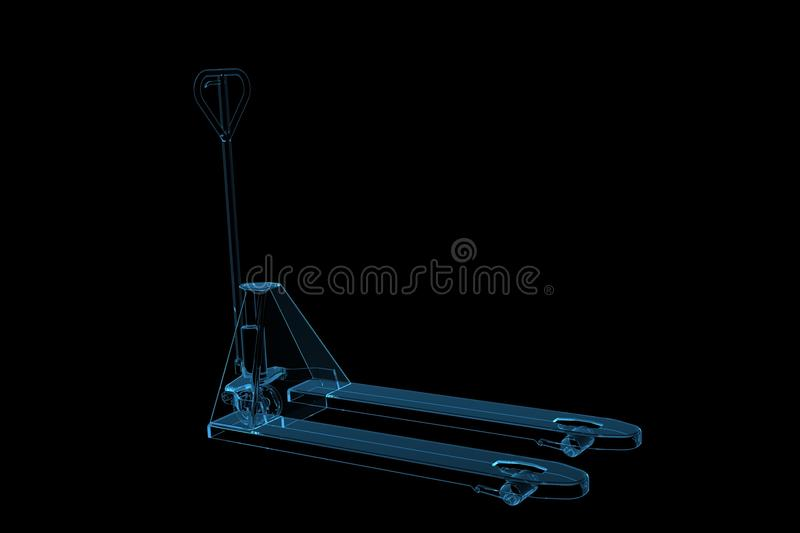 Download Lifter 3D Rendered Xray Blue Stock Illustration - Illustration of close, clear: 14261438