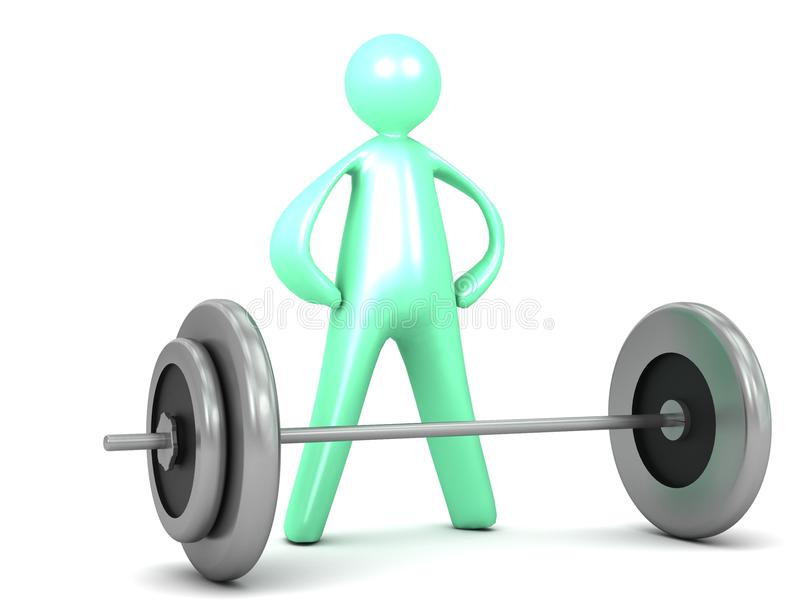 Download Lifting Barbell Weights Exercise Cartoon Stock Illustration - Illustration: 33601724