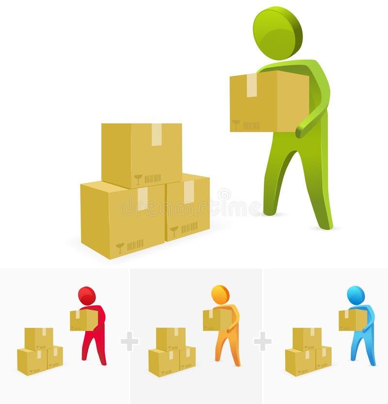 Lifting Box stock illustration