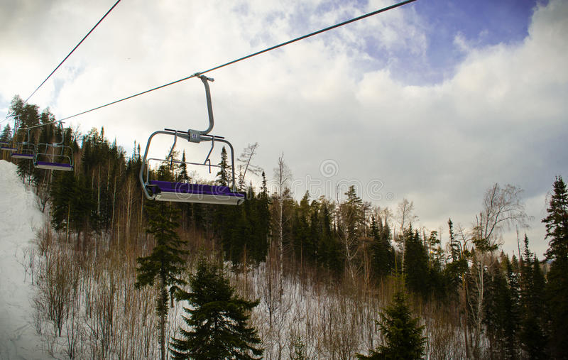 Download Lifting on the chair lift stock image. Image of resort - 29953423