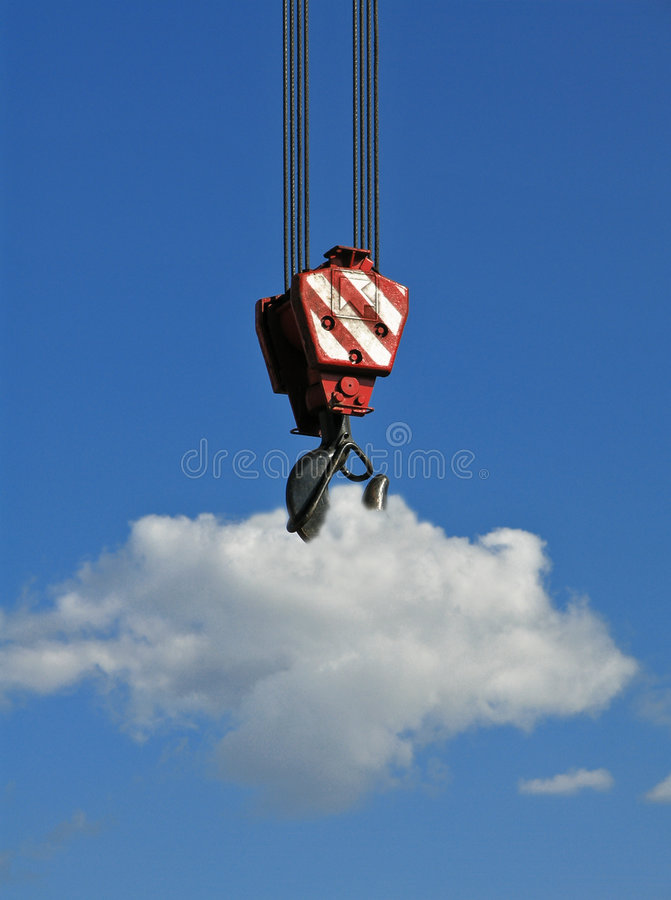 Lifting the cloud royalty free stock images