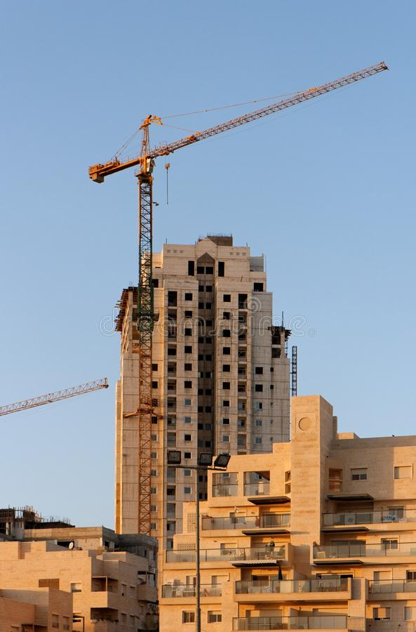 Download Lifting Crane And Building Under Construction Stock Image - Image: 23234849