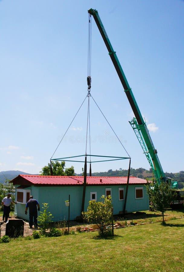 Free Lifting Crane House Stock Images - 57258944