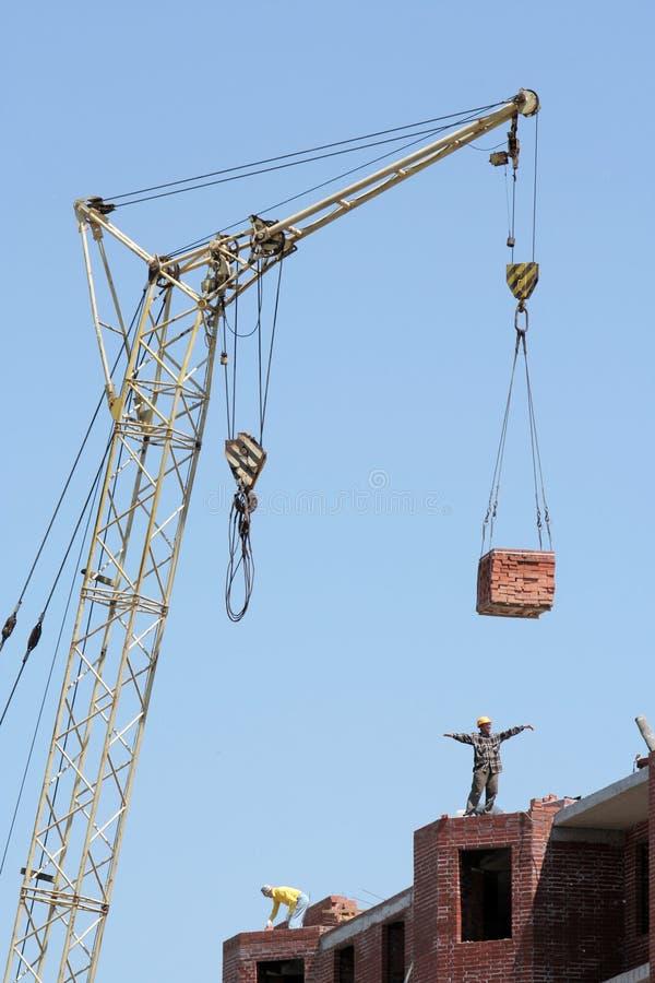 Free Lifting-crane Lifts A Bricks Stock Photos - 6548523