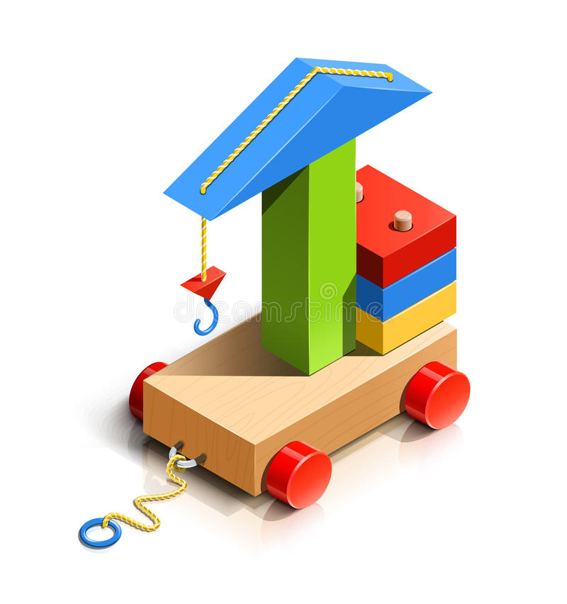 Free Lifting Crane, Wooden Toy Stock Photography - 29748532
