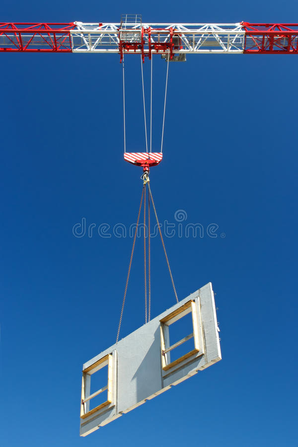 Download Lifting precast panel stock photo. Image of lifting, element - 25905618