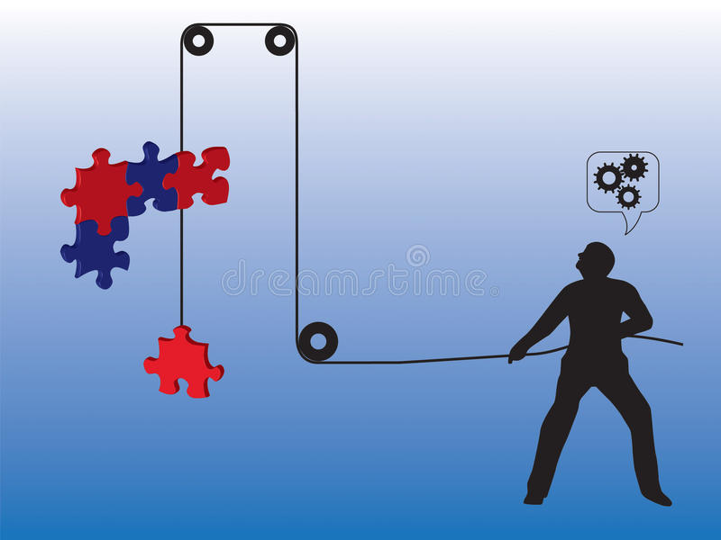 Download Lifting puzzle stock illustration. Illustration of help - 11143134