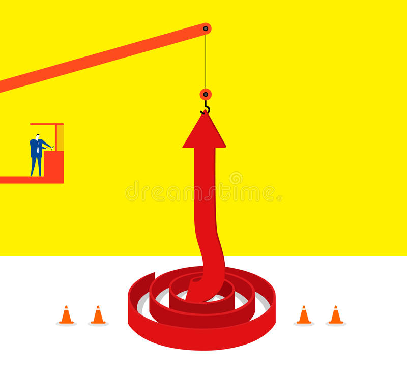 Lifting up! vector illustration