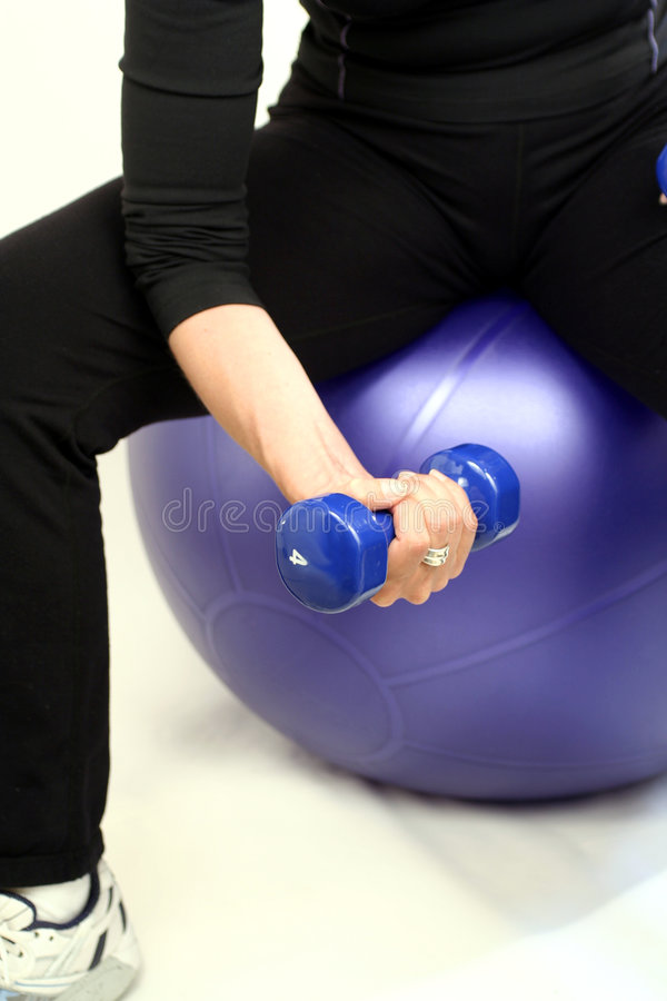 Lifting weight royalty free stock photo