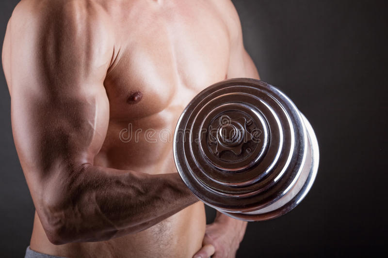 Lifting weights stock photography