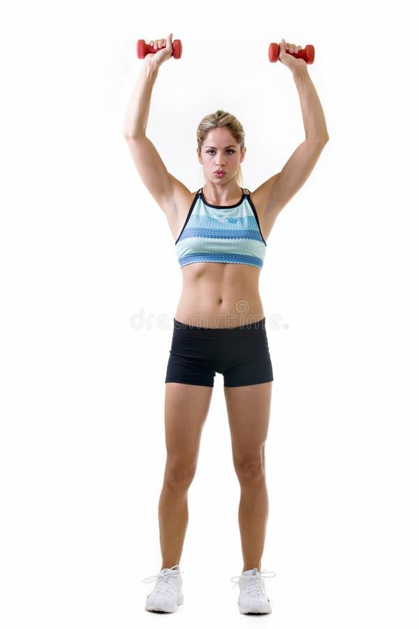 Lifting weights stock photos