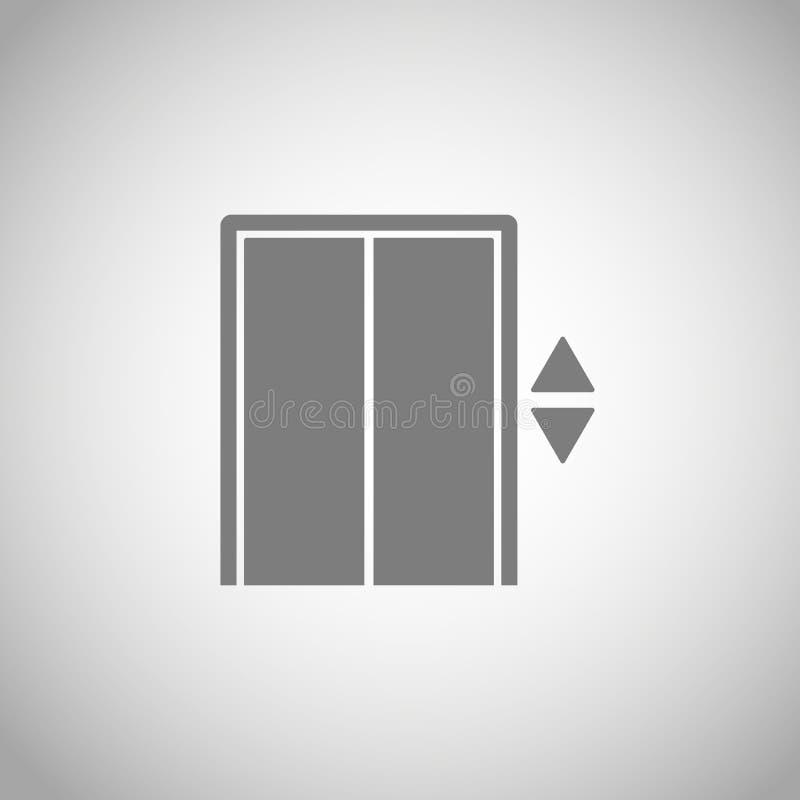 Liftpictogram lift vectorsymbool Liftteken royalty-vrije illustratie