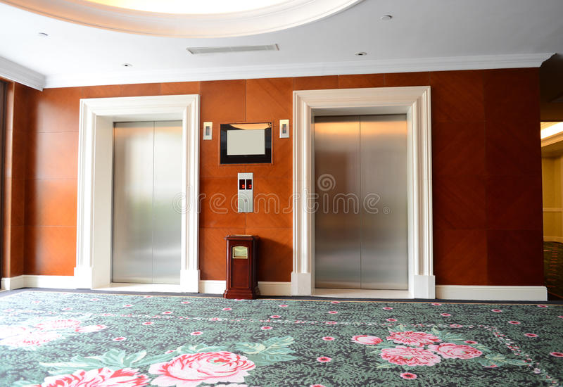 Download Lifts stock photo. Image of interior, green, empty, nobody - 32142978