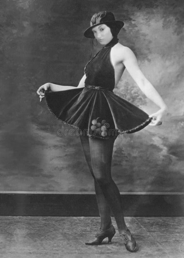 Ligón atractivo retro divertido, mujer imagen de archivo