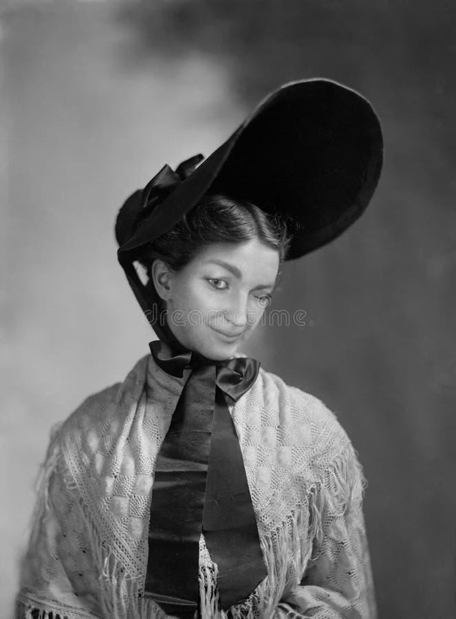 Ligón divertido del vintage, guiño, mujer fotografía de archivo libre de regalías