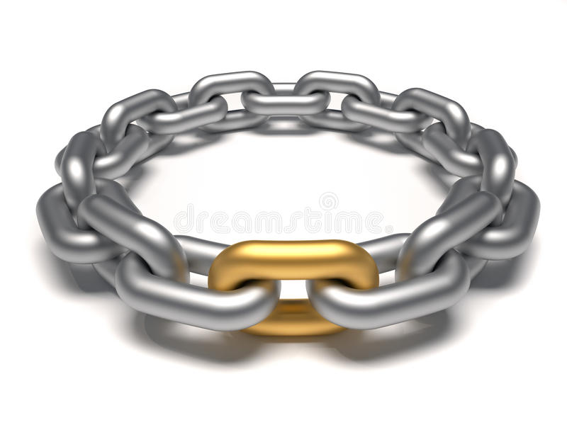Ligação dourada ilustração stock