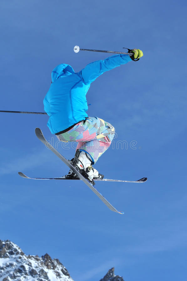 Ligação em ponte de esqui imagens de stock