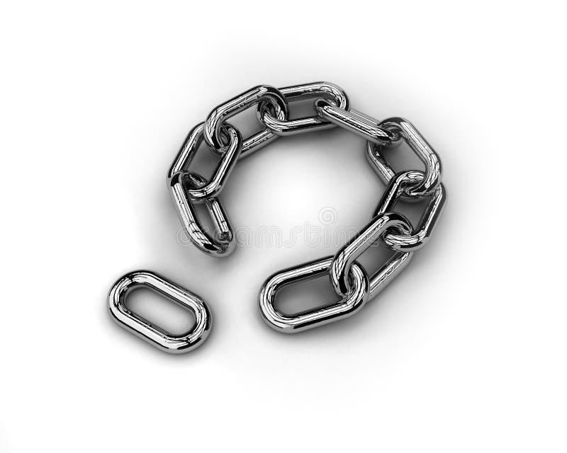 Ligação faltante ilustração do vetor