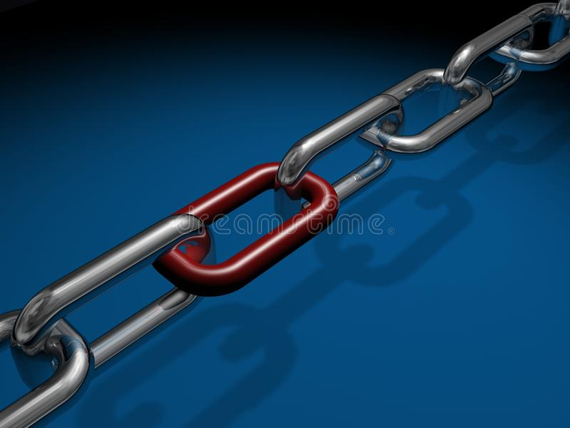 Ligações Chain ilustração royalty free