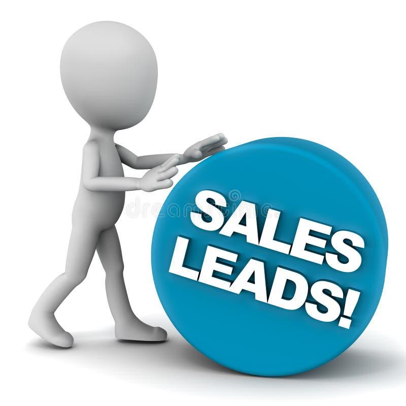 Ligações das vendas ilustração royalty free