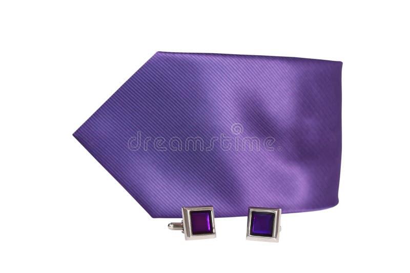 Ligações de punho e laço rolado isolados fotografia de stock royalty free