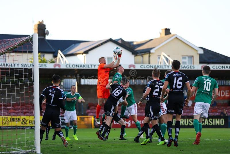 Liga av Irland den första uppdelningsmatchen: Cork City FC vs bohemmet FC arkivbilder