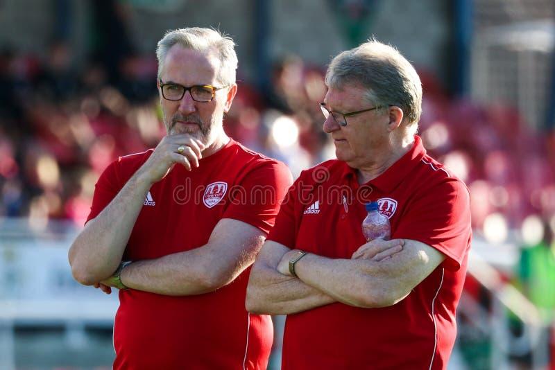 Liga av Irland den första uppdelningsmatchen: Cork City FC vs bohemmet FC royaltyfri fotografi