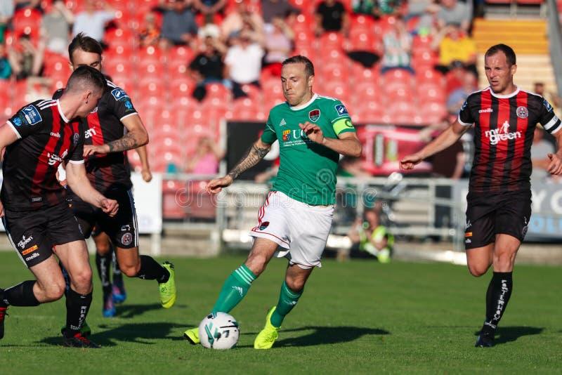 Liga av Irland den första uppdelningsmatchen: Cork City FC vs bohemmet FC arkivfoto
