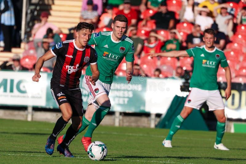 Liga av Irland den första uppdelningsmatchen: Cork City FC vs bohemmet FC royaltyfria bilder