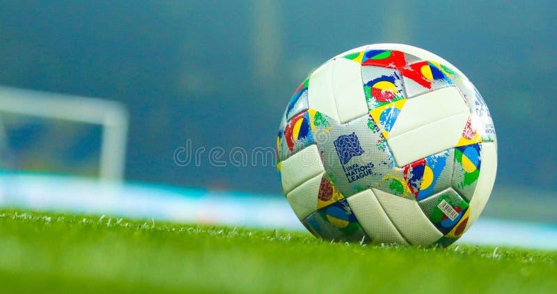 Liga da bola de nações oficial do UEFA fotos de stock royalty free