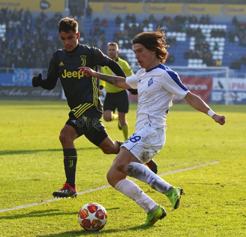 Liga da juventude do UEFA: FC Dynamo Kyiv v Juventus em Kyiv, Ucrânia fotografia de stock royalty free