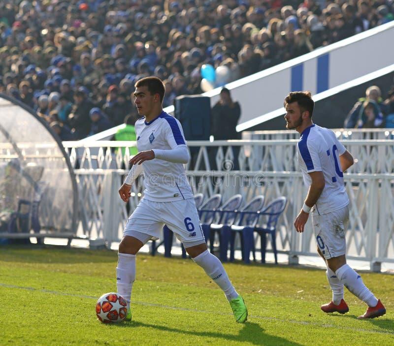 Liga da juventude do UEFA: FC Dynamo Kyiv v Juventus em Kyiv, Ucrânia imagem de stock