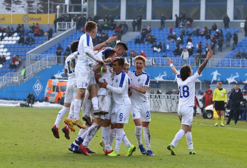 Liga da juventude do UEFA: FC Dynamo Kyiv v Juventus em Kyiv, Ucrânia fotografia de stock