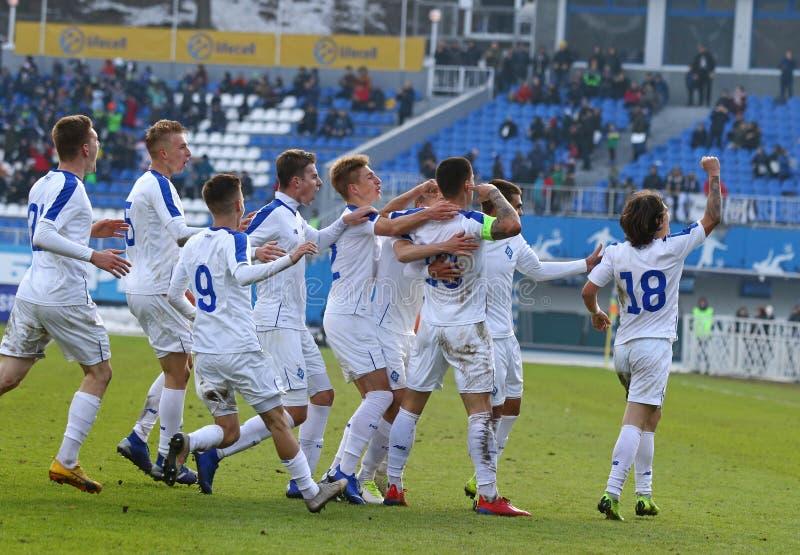 Liga da juventude do UEFA: FC Dynamo Kyiv v Juventus em Kyiv, Ucrânia fotos de stock royalty free