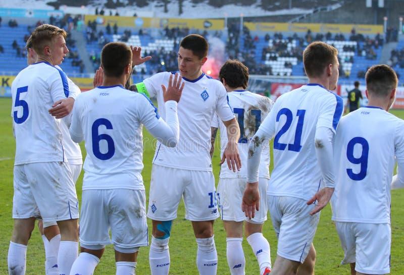 Liga da juventude do UEFA: FC Dynamo Kyiv v Juventus em Kyiv, Ucrânia fotos de stock