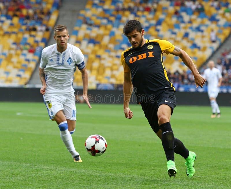 Liga de campeones de UEFA: FC Dynamo Kyiv v Young Boys imagen de archivo