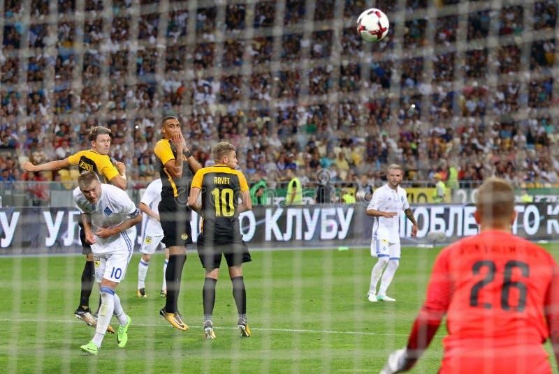 Liga de campeones de UEFA: FC Dynamo Kyiv v Young Boys imágenes de archivo libres de regalías