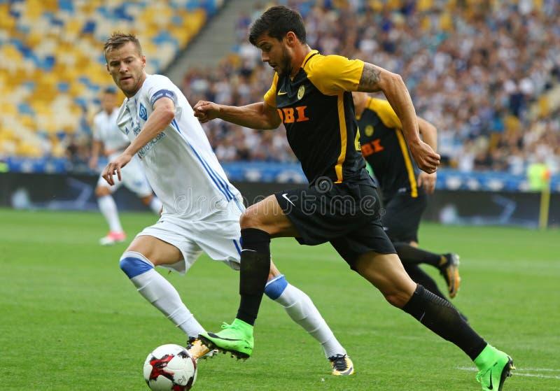 Liga de campeones de UEFA: FC Dynamo Kyiv v Young Boys fotos de archivo