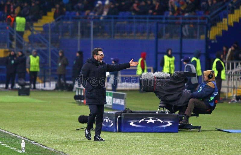 Liga de campeones de UEFA: Shakhtar Donetsk v Roma foto de archivo libre de regalías