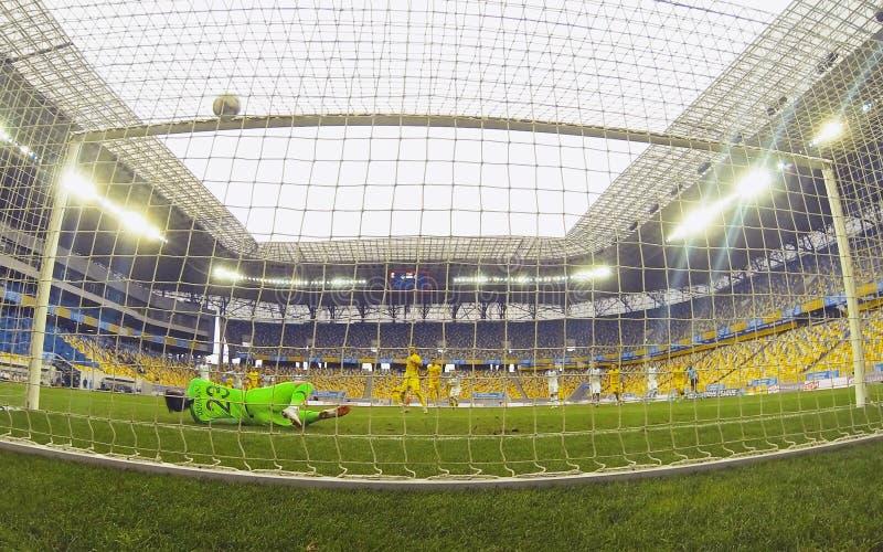 Liga de las naciones de la UEFA: Ucrania - Eslovaquia fotografía de archivo libre de regalías
