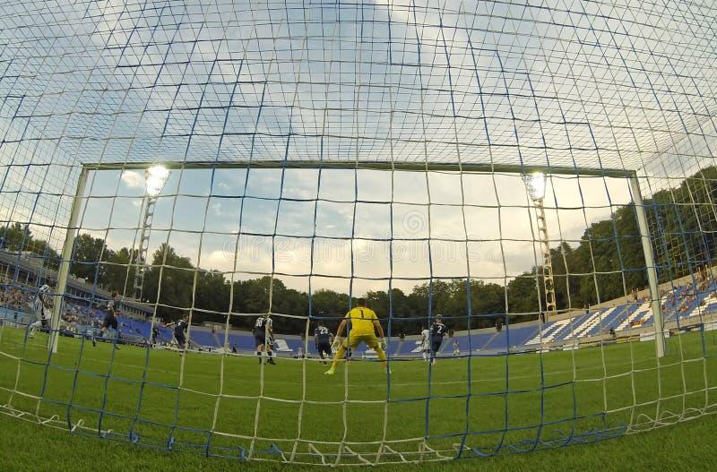 Liga del Europa de la UEFA: Olimpik Donetsk contra PAOK foto de archivo