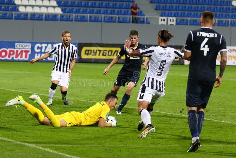 Liga del Europa de la UEFA: Olimpik Donetsk contra PAOK fotografía de archivo libre de regalías