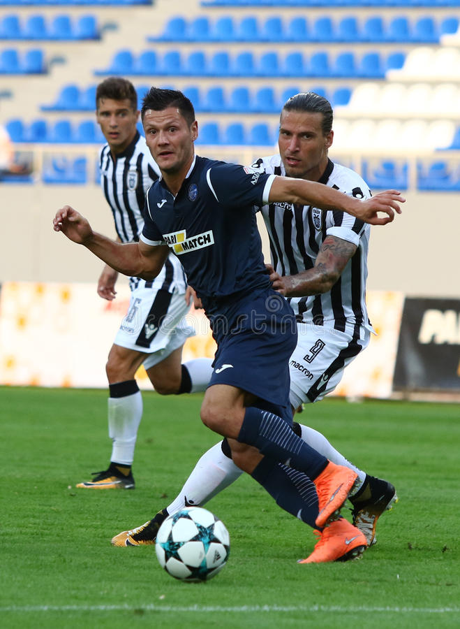 Liga del Europa de la UEFA: Olimpik Donetsk contra PAOK imagenes de archivo