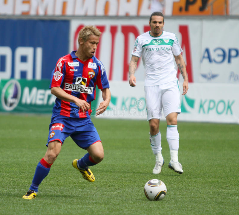 Liga do futebol do russo primeiro foto de stock