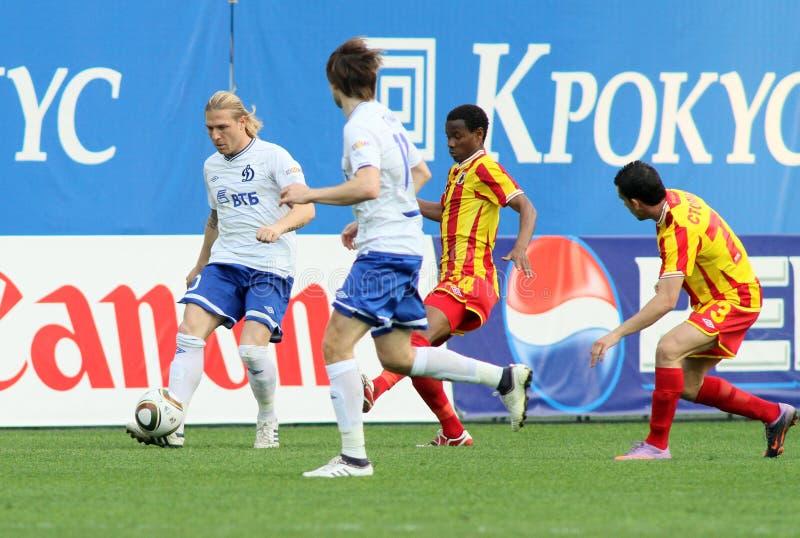 Liga do futebol do russo primeiro fotografia de stock royalty free