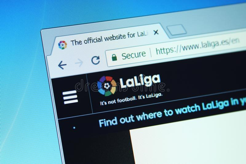 Liga do La, Web site espanhol da liga imagem de stock royalty free