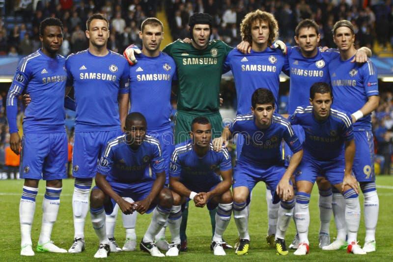 Liga för fotbollUEFA-mästare Chelsea V Juventus royaltyfri bild