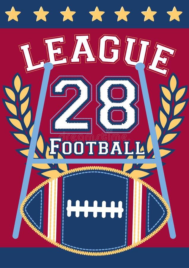 Liga footballowa 28 royalty ilustracja